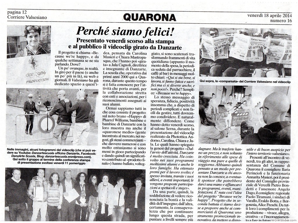 Corriere Valsesiano 18 Aprile 2014 p.1