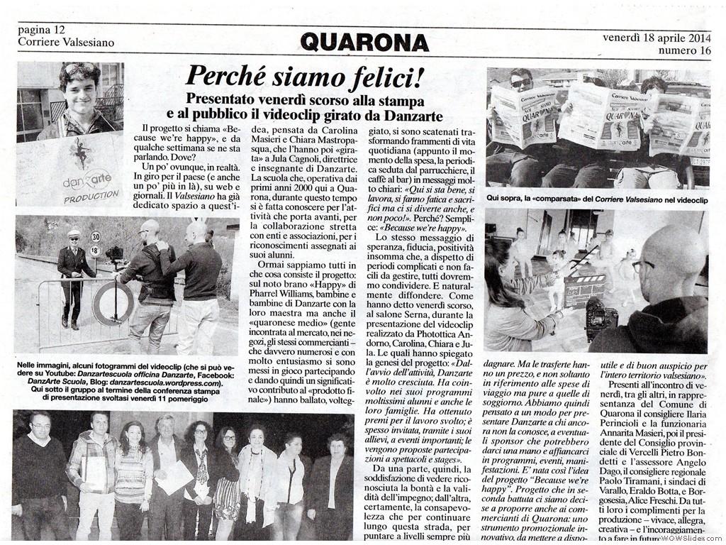 Corriere Valsesiano 18 Aprile 2014 p.1