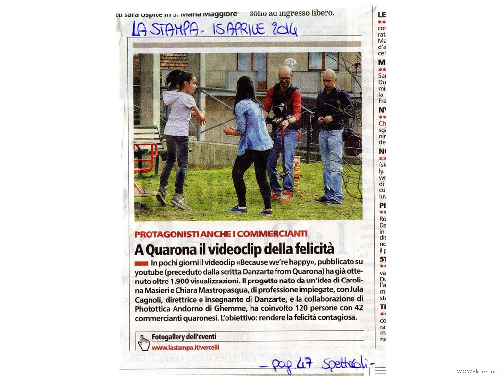 La Stampa 15 Aprile 2014